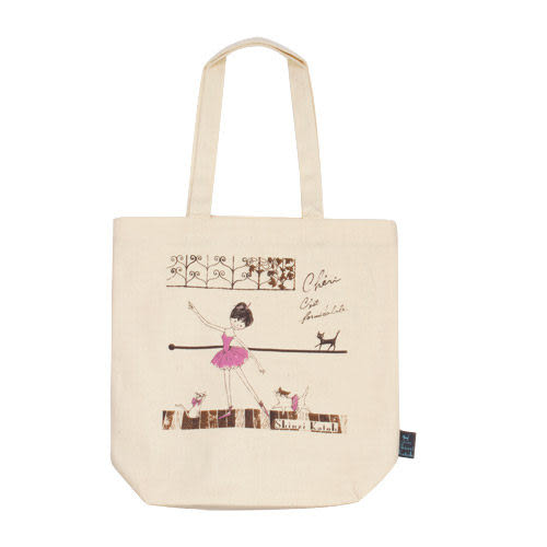 ★funbox生活用品★《Shinzi Katoh 加藤真治》芭蕾女孩帆布手提袋_ZI02891