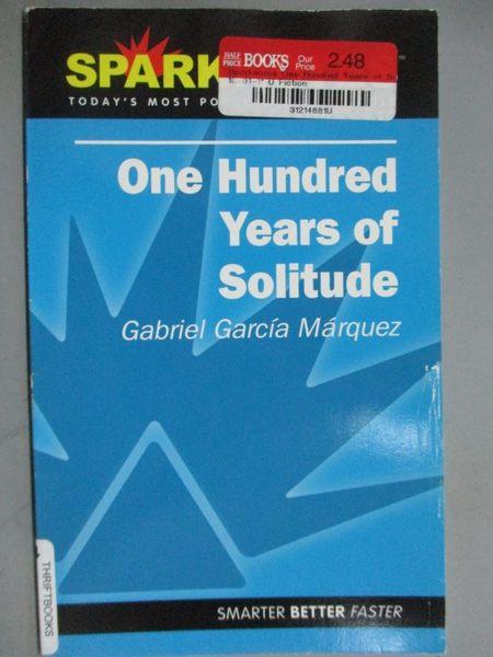 【書寶二手書T7/原文書_GJG】Sparknotes One Hundred Years of Solitude_Ga