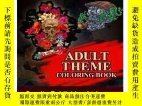 二手書博民逛書店Tattoo罕見Coloring Book: Adult Theme Coloring BookY360448