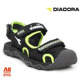 【Diadora 迪亞多那】大童款休閒護趾涼鞋 -黑色(D6080)全方位跑步概念館