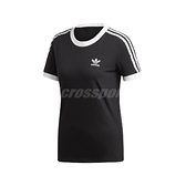 adidas 短袖T恤 3-Stripes Tee 黑 白 女款 運動休閒 短T 【ACS】 ED7482