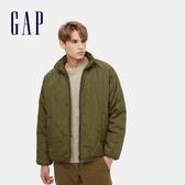 Gap男裝 可兩面穿仿羊羔絨立領外套 656247-玳瑁紋