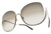 Chloe 太陽眼鏡 CE125S 752 (銀-漸層灰鏡片) 歐美金屬半框 墨鏡 # 金橘眼鏡