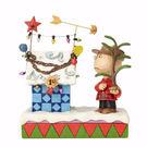 《Enesco精品雕塑》SNOOPY 查理布朗裝飾聖誕小屋塑像-Charlie Brown's Christmas(Peanuts by Jim Shore)_EN91758