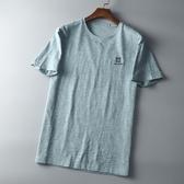 短袖T恤 T恤 男 夏季男士圓領短袖上衣潮