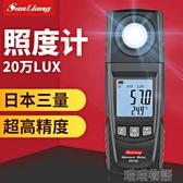 亮度計-日本三量光照度計儀測光儀亮度計流明測試儀高精度測光儀光度計 喵喵物語 YJT