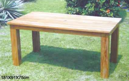 【南洋風休閒傢俱】戶外餐桌椅系列-180公分柚木長方餐桌   戶外餐桌 (#180T)