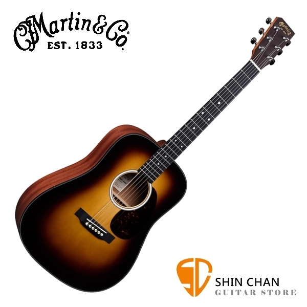 Martin DJR10E BURST 38吋可插電全單板小吉他 夕陽漸層色 Dreadnought Junior 全單板  附原廠吉他袋