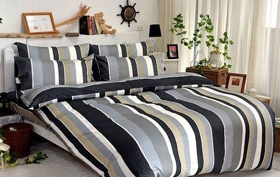 單品 (不含被套)-北歐簡約風(K)、100%精梳棉【雙人床包5X6.2尺/枕套】