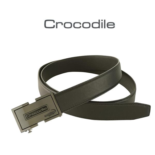 【全新品公司貨】Crocodile 鱷魚 黑色牛皮皮帶 可微調自動皮帶【寧寧小舖/台中30年老店】857-1