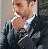 男士手錶  男士手錶防水全自動機械錶男錶瑞士石英時尚潮夜光手錶男  汪喵百貨
