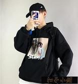 連帽外套男-秋季男士韓版連帽連帽T恤情侶上衣服潮牌學生外套冬裝潮【全館免運】