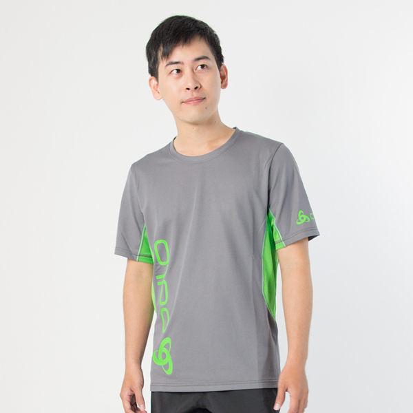 Odlo圓領短袖T恤 男 灰綠 391432