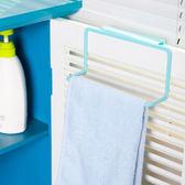 ◄ 生活家精品 ►櫥櫃門背式毛巾架 置物架 塑料 創意 廚房 門背 單桿 掛抹布 掛架 多用途 【N397】