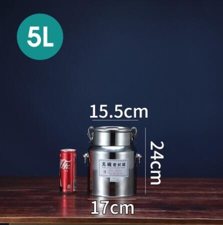 304不銹鋼密封桶 家用茶葉罐運輸桶加厚食用花生油牛奶桶酒桶油桶ATF 美好生活