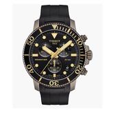 ◆TISSOT◆新上市  復古耐看配色SEASTAR 1000 海星潛水計時碼表T120.417.37.051.01 古銅金