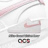 Nike 休閒鞋 Wmns Court Vision Low 白 粉紅 小白鞋 女鞋 【ACS】 CD5434-110