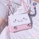 日系軟妹洛麗塔可愛兔兔貓耳激萌lolita卡通斜挎單肩包包女