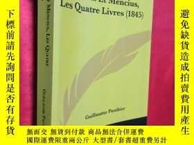 二手書博民逛書店Confucius罕見Et Mencius, Les Quatr