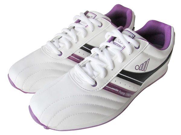 『雙惠鞋櫃』★JUMP將門★ 女賽車休閒運動鞋 ★  (261)白紫