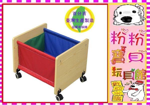 *粉粉寶貝玩具2館*移動式木質收納籃~玩具收納桶~