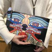手拿包女2018新款時尚氣質手挽包個性大容量手抓信封包潮女單肩包 至簡元素