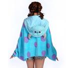 【Sexy cat】大藍怪造型披肩加厚款 秋冬必備懶人毯/袖毯/冷氣毯/宅人披肩