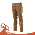 【Wildland 荒野 女 彈性針織合身長褲《深卡其》】0A12363/保暖長褲/休閒合身長褲