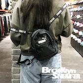 Puma 黑 白Logo 背帶 後背包 側背包 兩用小背包 小包 (布魯克林) 2019/1月 07615401