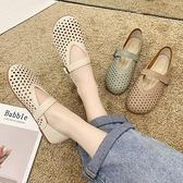 奶奶鞋2020年新款女夏季樂福鞋平底單鞋軟皮軟底ins牛筋底孕婦鞋【Ifashion·全店免運】