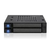[富廉網] ICY DOCK MB522SP-B 二層式 2.5吋轉3.5吋 內接抽取盒