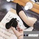 高跟鞋女時尚休閒氣質尖頭單鞋細跟【邦邦男裝】