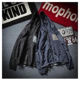 春秋季男士潮流工装外套休闲上衣服防曬衣加肥加大码胖子宽鬆夹克 歐韓時代