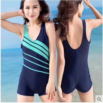 2016新款 佑遊 連體平角遮肚顯瘦溫泉泳裝 加大碼保守女士游泳衣