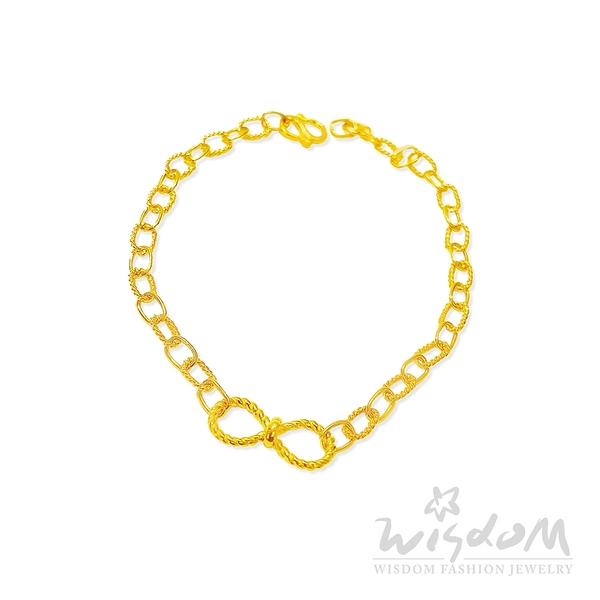 威世登 黃金蝴蝶結手鍊 金重約1.40~1.43錢 GC00962-AAXX-FIX