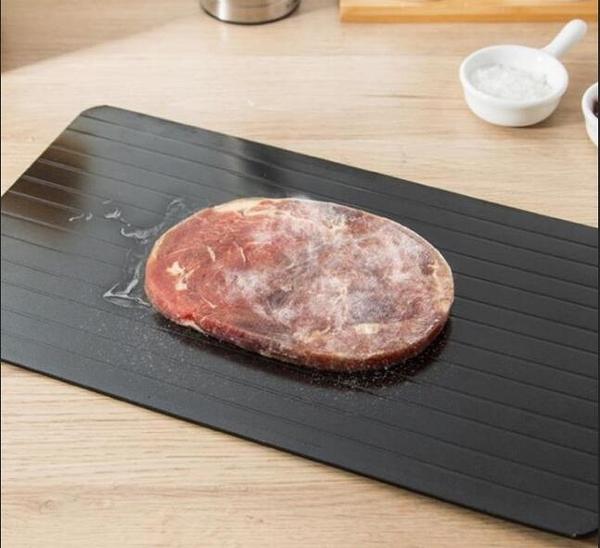 新品日本家用廚房食物解凍板快速解凍板牛排海鮮魚肉加速解凍盤