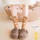2雙 睡覺襪子女保暖加厚加絨毛巾襪珊瑚絨睡眠地板襪【雲木雜貨】