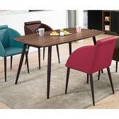 【森可家居】古巴克5尺餐桌(不含椅) 8ZX953-2 商用 餐廳 咖啡廳 木紋質感 黑鐵桌腳