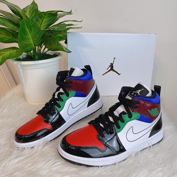 全新新款 Air Jordan 1 Mid SE 彩色拼接 休閒鞋 籃球鞋 DB5454-001