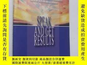 二手書博民逛書店Speak罕見and Get Results:the compl