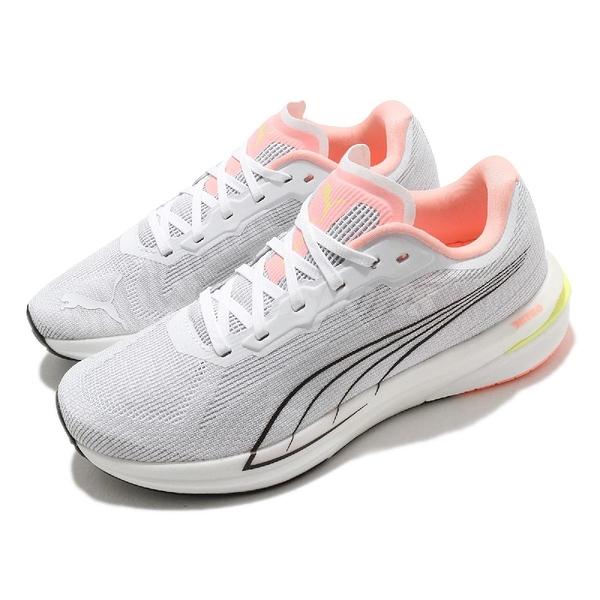 Puma 慢跑鞋 Velocity Nitro Wns 白 粉紅 黑 氮氣中底 避震 女鞋 【ACS】 19569705