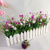 仿真綠色植物花草 假花塑料花 桌面隔斷擺放花藝 牆角遮擋柵欄花 【PINKQ】
