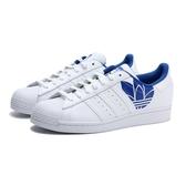 ADIDAS 休閒鞋 ORIGINALS SUPERSTAR 白藍 皮革 鋼印LOGO 復古 板鞋 男女 (布魯克林) FY2826