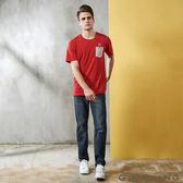 GIORDANO 男裝精工貓鬚水洗棉質窄管牛仔褲(66 中藍色)