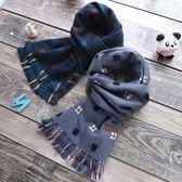秋冬季新款兒童圍巾男女童流蘇邊寶寶雙面格子韓版羊絨保暖圍脖潮