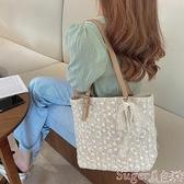 草編包 包包女2021新款潮時尚網紅蕾絲草編包大容量百搭托特包手提側背包 新品