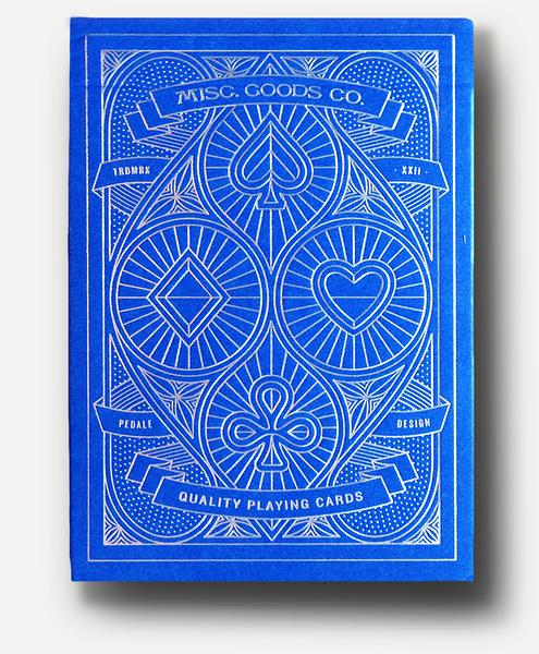 【USPCC 撲克】Pedale design MISC GOODS playing cards V3 藍