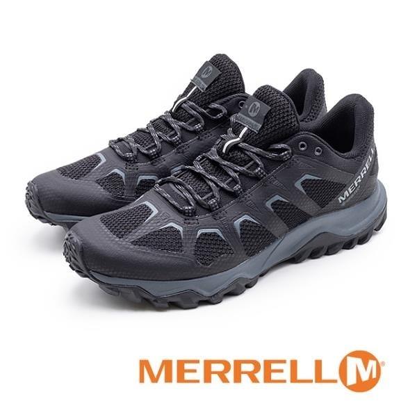 【南紡購物中心】MERRELL (男)Fiery Gore -Tex® 防水郊山健行鞋 男鞋 - 黑(另有灰)