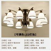 吊燈美式客廳燈現代簡約LED歐式燈法式臥室燈書房北歐餐廳吸頂燈 法布蕾輕時尚igo