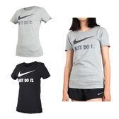 NIKE 女短袖上衣 (短T T恤 慢跑 訓練 路跑 免運 ≡排汗專家≡